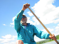 Peter paddling the Northern Forest Canoe Trail